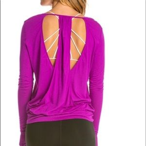 Alo Top with Cut Out Back Details - Rare
